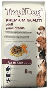 Tropidog Premium Adult Small Beef Rice 8kg
