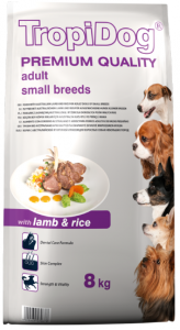 Tropidog Premium Adult Small Lamb Rice 8kg