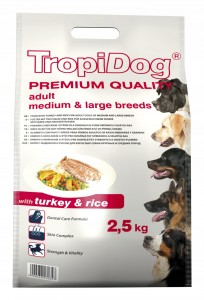 Tropidog Premium Adult M&L Turkey Rice 2,5kg