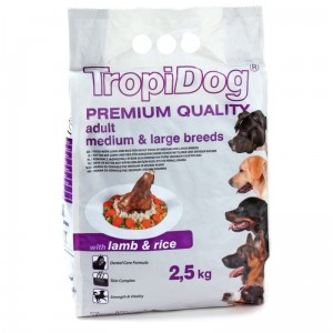Tropidog Premium Adult M&L Lamb&Rice 2,5kg