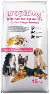 Tropidog Premium Junior L Turkey 15kg