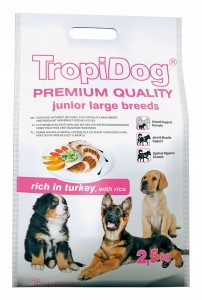 Tropidog Premium Junior L Turkey Rice 2.5kg