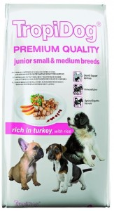Tropidog Premium Junior Small Medium Turkey Rice 2.5kg