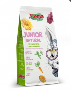 Alegia Exclusive Junior Natural Królik 650g